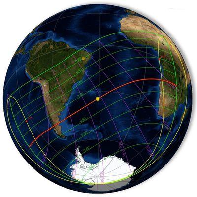 Circonstances de l'éclipse annulaire de Soleil du 26 février 2017 en Argentine