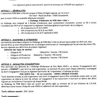 règlement  général administratif  sportif  et technique