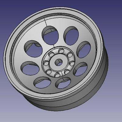 Refabrication roues Turbo-Optima, Mid, etc. en trois parties.