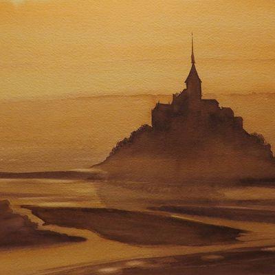 Marée basse au Mont Saint-Michel