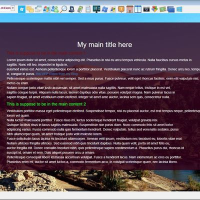 A sidebar accordion web menu with a desktop vfp  application