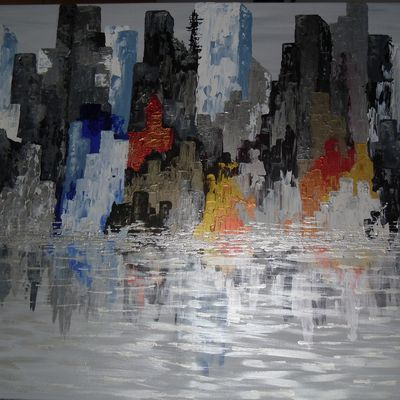"Tableau abstrait ""New York Reflections"""