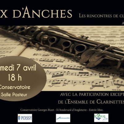 Concert de clarinettes le samedi 7 avril 2018