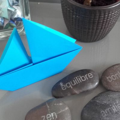 Voilier origami