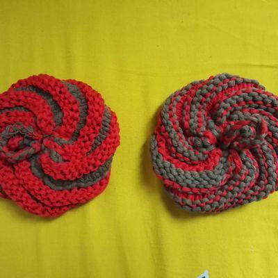 Tawashi, éponge écologique au tricot.