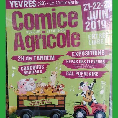 Découverte du comice agricole à Yèvres. Juin 2019