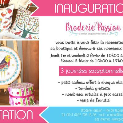 Broderie Passion : nouvelle boutique