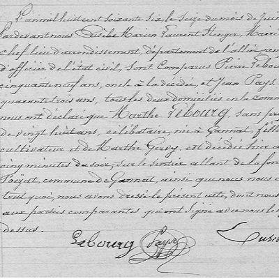 Assassinat par amour à Gannat (1866)