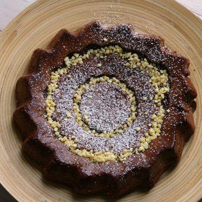 Brownie pistache et amandes