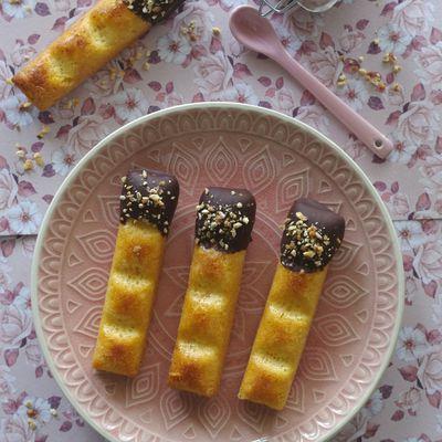 Petits gâteaux orange sanguine/chocolat