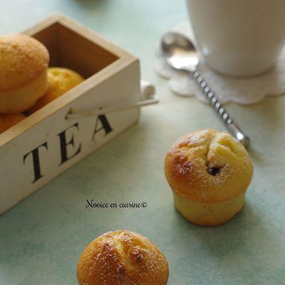 Minis muffins citron coeur pâte à tartiner