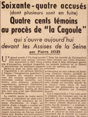 """En 1948, le procès de """"la Cagoule"""""""