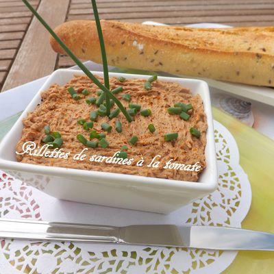 Rillettes de sardines, fromage frais ail et fines herbes, tomate et piment d'Espelette