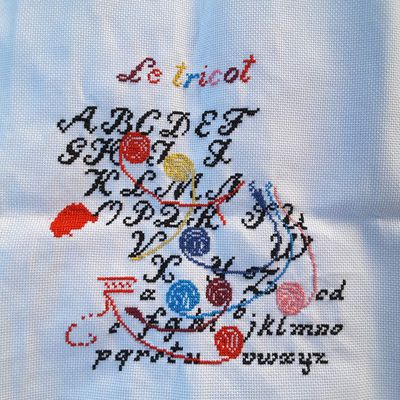 le tricot / broderie