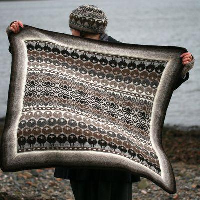 tricoter avec ses mains, maille laine XXL