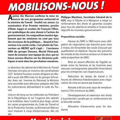 Premier RASSEMBLEMENT contre la CASSE SOCIALE : Mardi 27 juin 2017 - 12 h - Esplanade des Invalides -Paris [CGT-URIF]