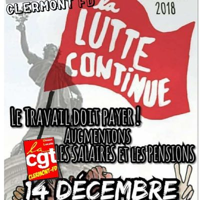 TRANSFORMONS la GROGNE en REVENDICATIONS : On se mobilise pour le 14 décembre à Clermont-Ferrand