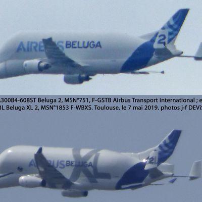 Vus le même jour, photographié sous le même angle : les deux Beluga n°2. Faites le jeu des 7 différences !