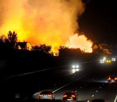 Inquiétude des riverains des entreprises de traitement d'ordures: après l'incendie de la décharge Veolia Claye-Souilly c'est l'entreprise de tri de déchets Paprec Bruguière qui prend feu!