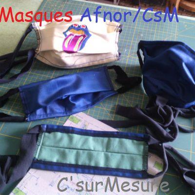 Masques AFNOR/CsM coupe et Montage.