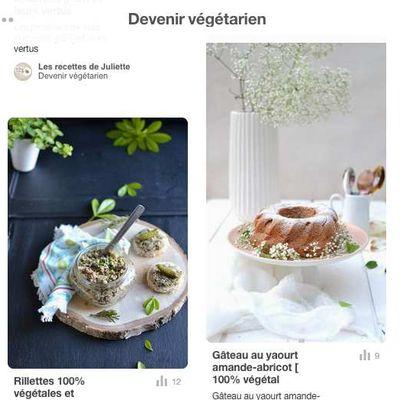 Devenir végétarien ( Food Revolution avec Pinterest )