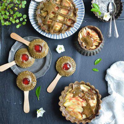 Tartelettes aux pommes et pie pops à la confiture de fraise {sans gluten}