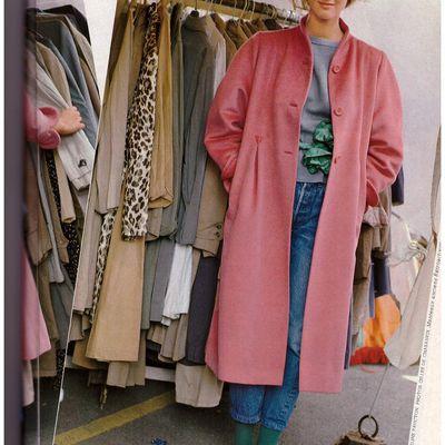 Le manteau rose tendre et gai