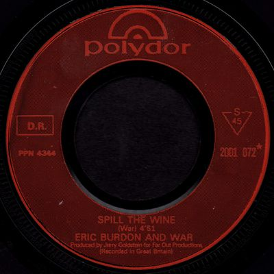 Eric Burdon and War - Spill the wine - magic mountain - 1970