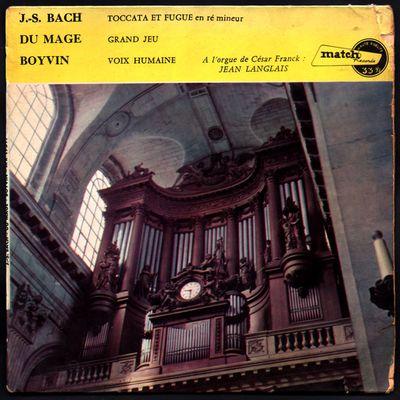 Jean Langlais à l'orgue de César Franck - Enregistré à la basilique Sainte clotilde à Paris