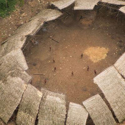 Incredible Photos Show Uncontacted Amazonian Tribe Living Perilously Close To Illegal Miners !