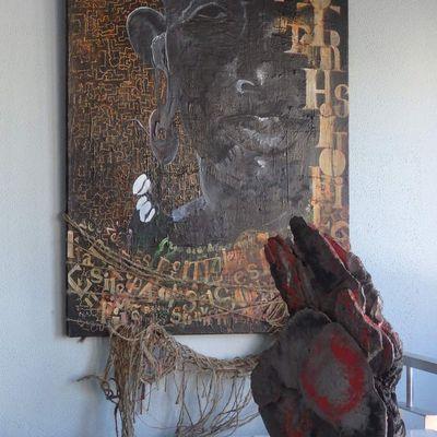 Photographie des oeuvres in situ, par salle à la carcel de Sarria (Photos Florence Normier)