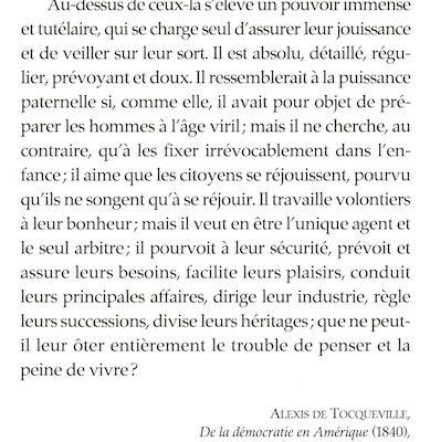 Tocqueville : de la démocratie en Amérique 1840