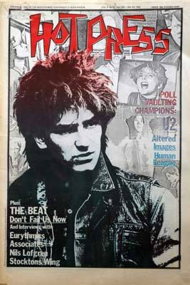 U2 -Magazine  Hot Press 04 Mars 1982