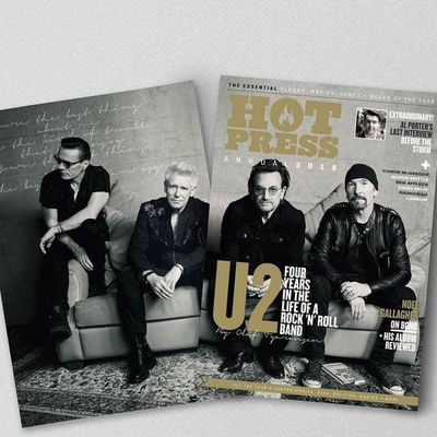 U2 -Magazine Hot Press Annual 2018 -23 Novembre 2017