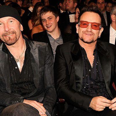 Bono et The Edge - 65º Tony Awards -Théâtre Beacon -New York -12/06/2001