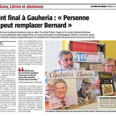 "Point final à Gauheria : ""Personne ne peut remplacer Bernard"""