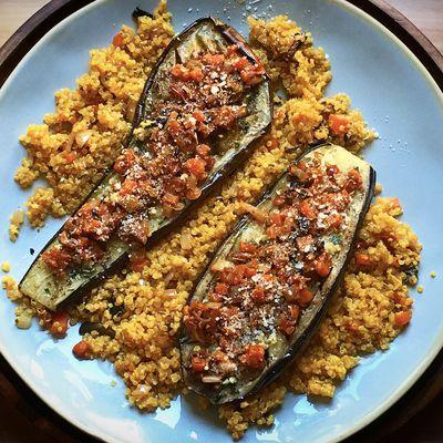 Aubergine Quinoa et Légumes