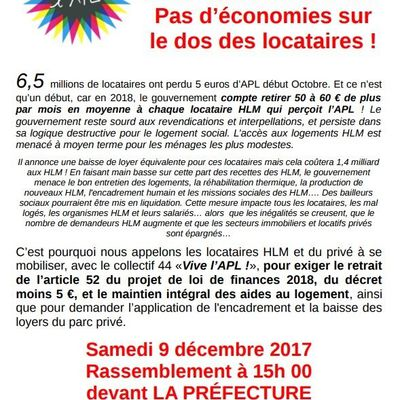 Collectif 44 Vive l'APL ! - Campagne de mobilisation nationale