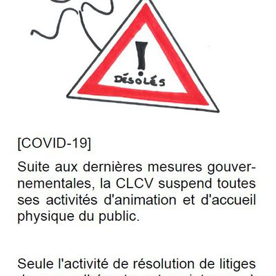 ATTENTION ! FERMETURE EXCEPTIONNELLE - COVID19