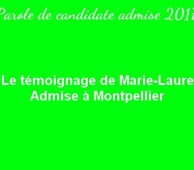 Le témoignage de Marie-Laure – Admise à Montpellier