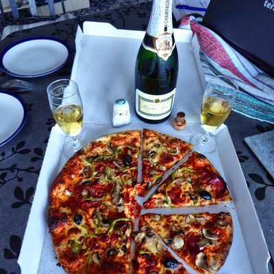 Pizza champagne