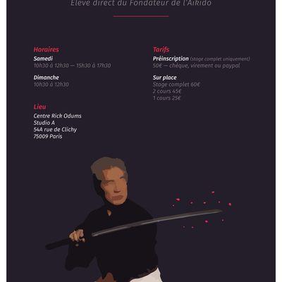 Mochizuki Hiroo, élève direct du Fondateur de l'Aïkido à Paris, 7 et 8 octobre