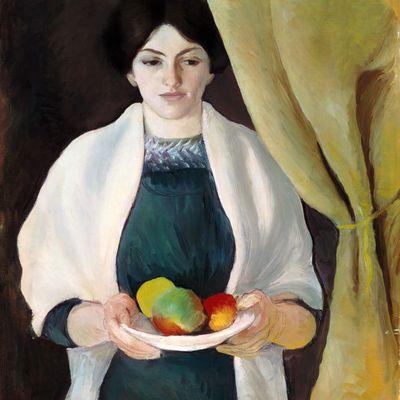 Macke - Portrait avec pommes