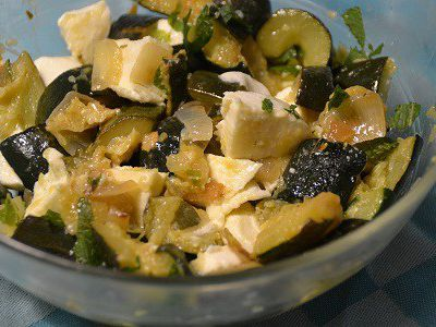 Salde courgettes feta weight watchers au cookeo