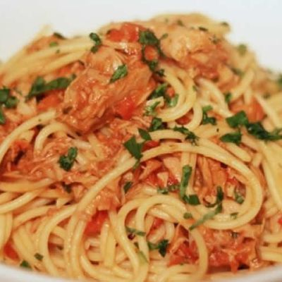 Pâtes sauce tomate et thon weight watchers adaptable cookeo