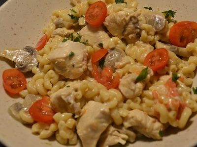 Coquillettes poulet fromage recette cookeo
