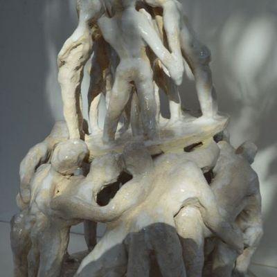 """""""Fragilité humaine"""" ma dernière sculpture   terre cuite émaillée"""