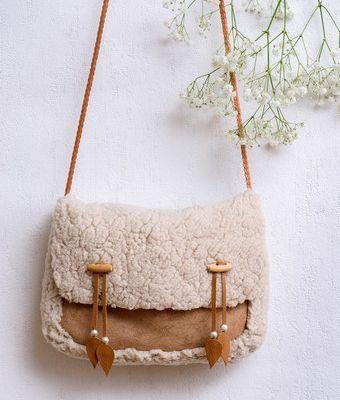 Mon sac en (faux) mouton retourné !