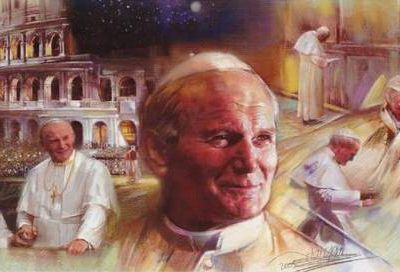 Vie & coloriages du Pape Jean-Paul II