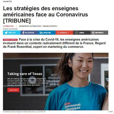 Dans les médias (162) : Tribune LSA : les stratégies des enseignes américaines face au Coronavirus